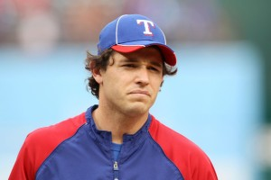 Kinsler is really good at looking like he just sucked on a lemon.